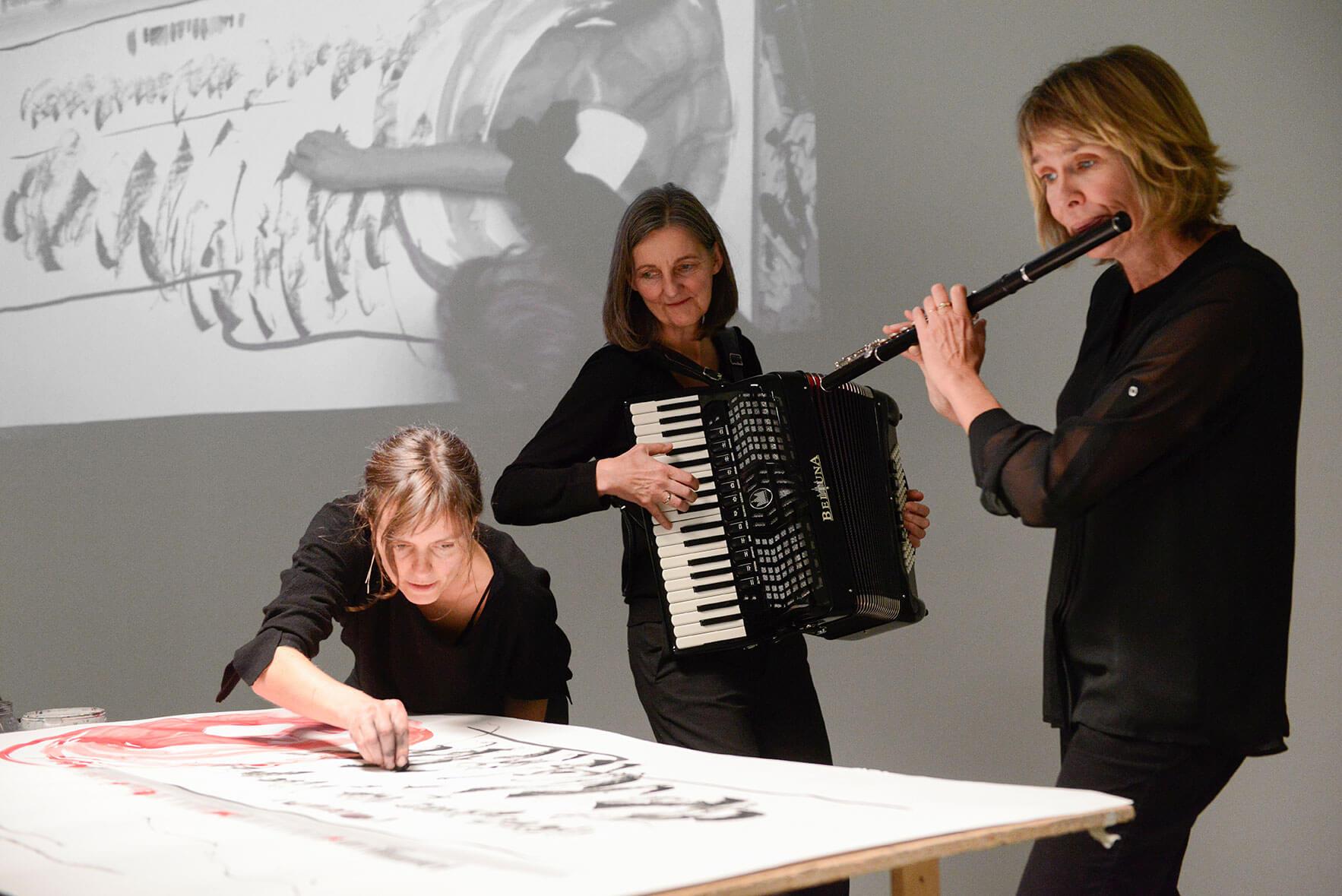 IM.PULS - Trio - Oschmann - Weghoff - Betzl - Kunstverein - Performance