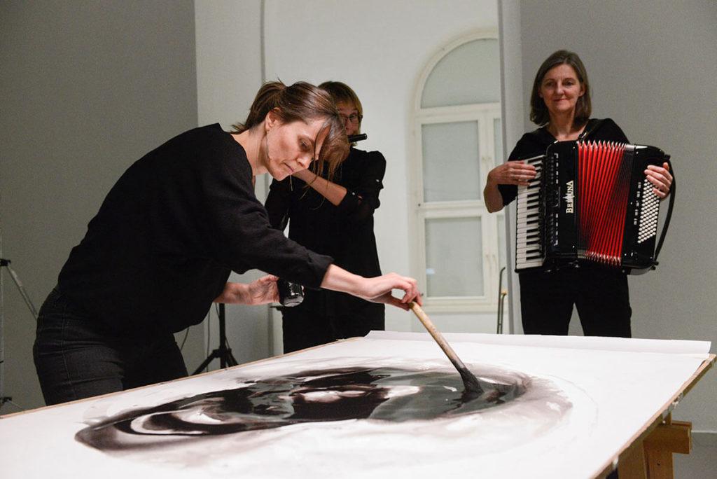 Im.Puls - Fettes Walwunder - Kasseler Kunstverein - Transfer Zeichnung Musik