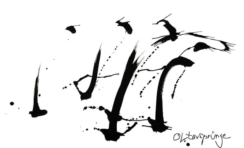 Im.Puls - Live Performance Dock4 - Transfer Zeichnung Musik - Oktavsprünge - copyright Maja Oschmann