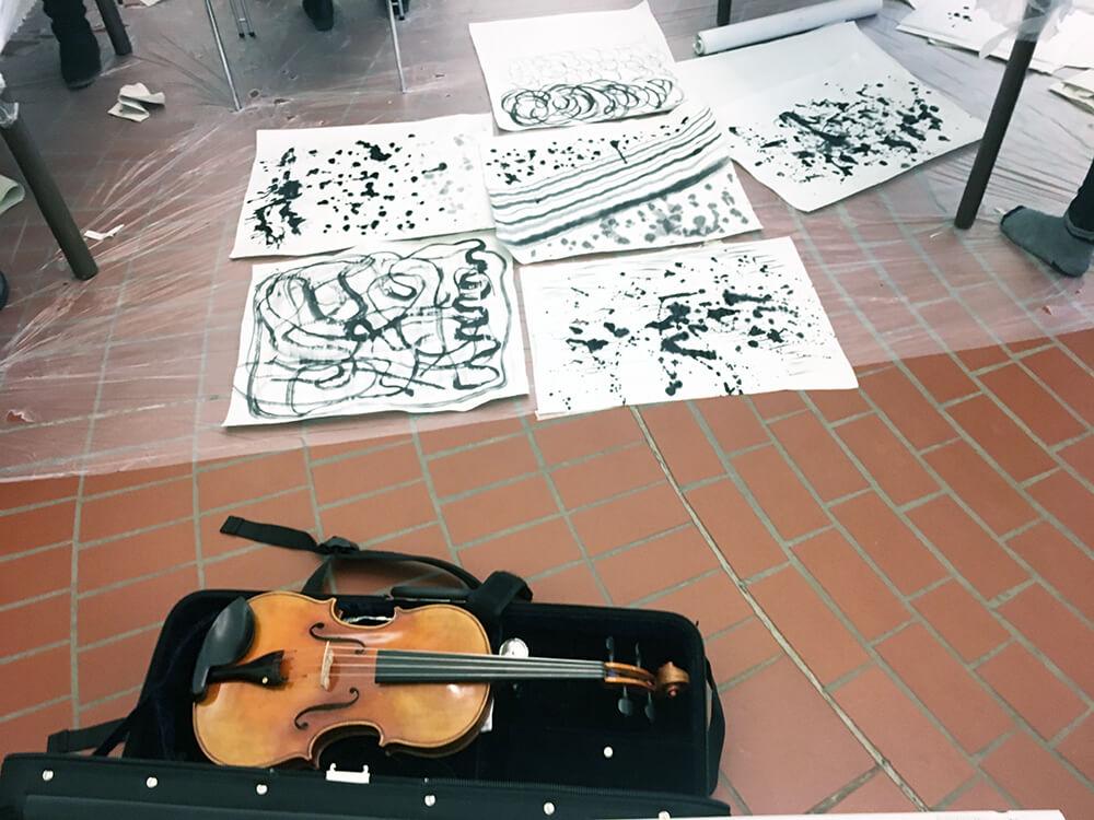 Im.Puls - Seminar - Uni Kassel - Ästhetische Bildung - Transfer Zeichnung Musik