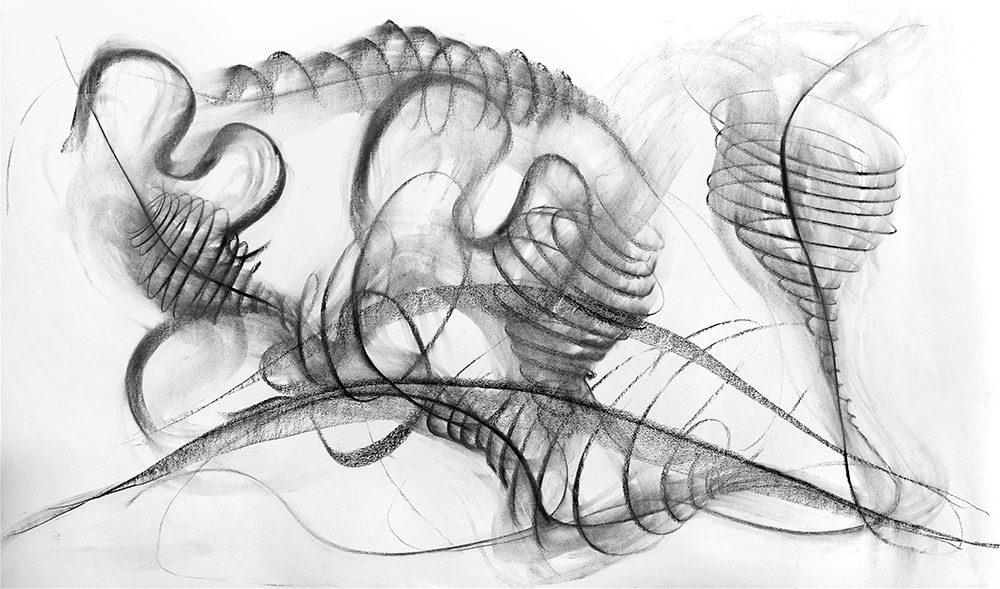 Im.Puls - Transfer Zeichnung Musik - Flatterzunge - copyright Maja Oschmann