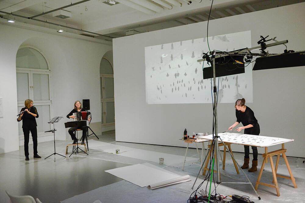 Im.Puls - Live Performance - Konzert - Kasseler Kunstverein - Transfer Zeichnung Musik - Photo copyright Nils Klinger