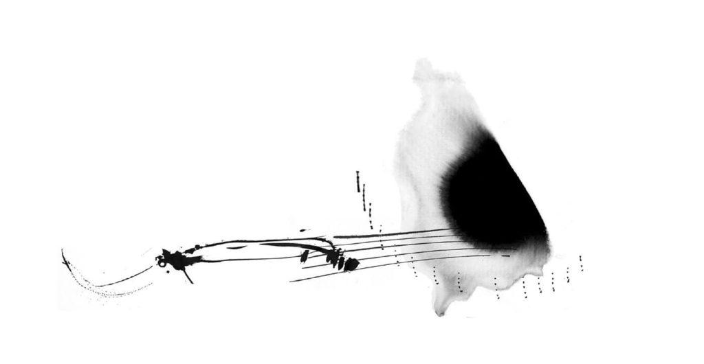 Transfer Zeichnung Musik - Komposition - Zeichnung -Copyright - Maja Oschmann